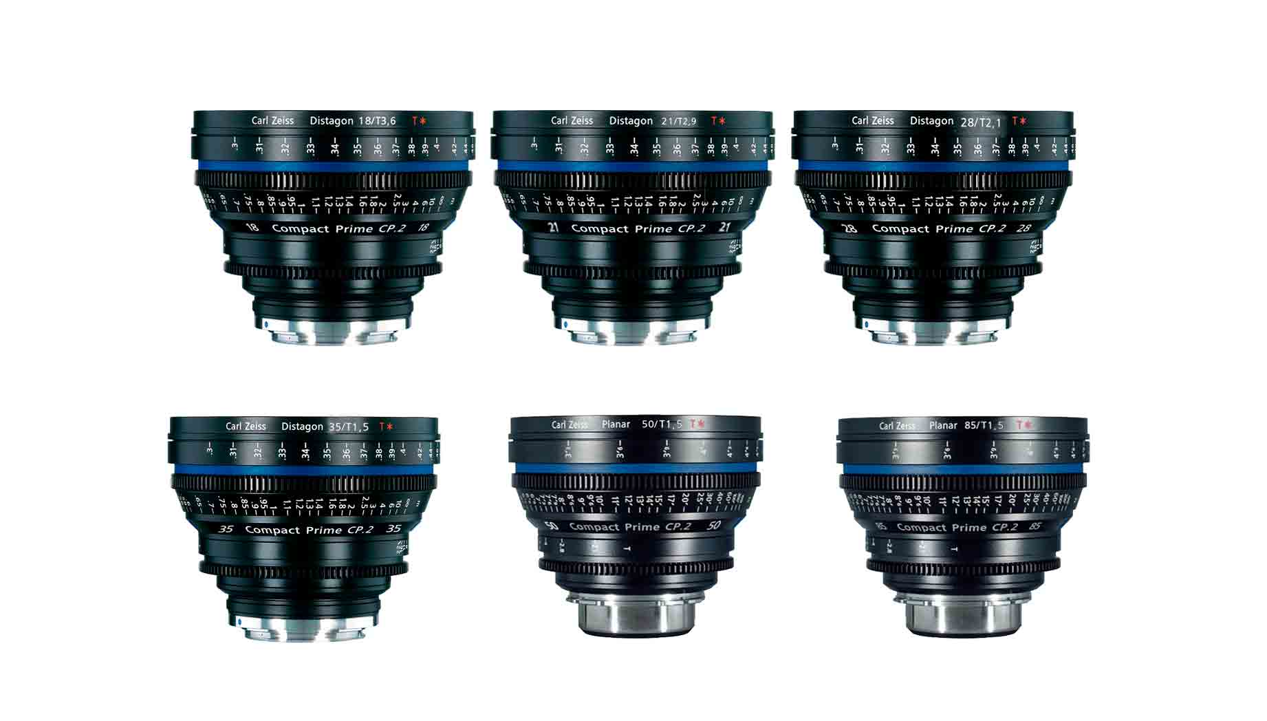 Set de 6 lentes zeiss cp2